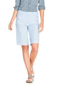 """Women's Mid Rise 12"""" Chino Seersucker Shorts"""