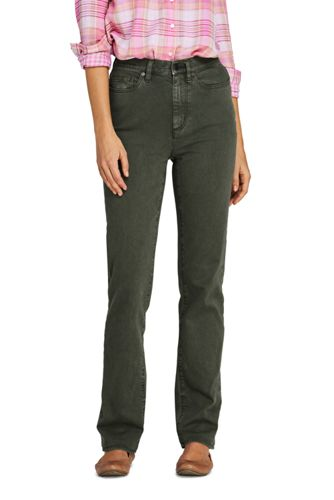 Women's High Waisted EcoVero Straight Leg Jeans, Colours