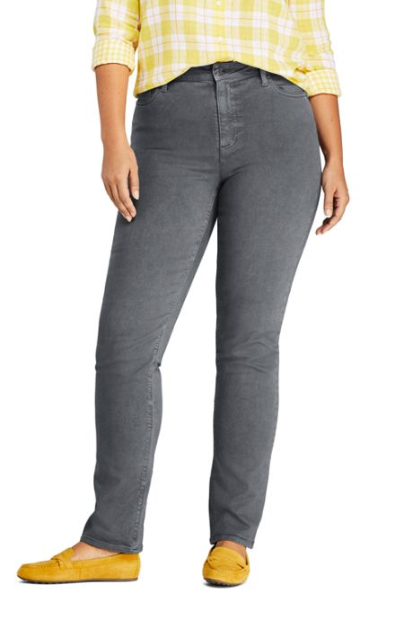 Women's Plus Size Mid Rise Straight Leg Colorful Jeans