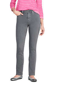 Women's Tall Mid Rise Straight Leg Colorful Jeans