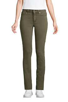 Women's Mid Rise EcoVero Straight Leg Jeans, colours