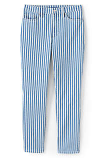 Women's Plus Size High Rise Slim Straight Ankle Stripe Jeans, Front