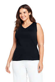 Women's Plus Size Cotton Vneck Tank Top