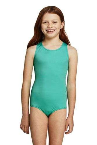 Girls Slim Racerback One Piece Swimsuit