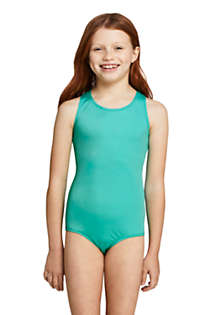 Girls Plus Racerback One Piece Swimsuit, Front