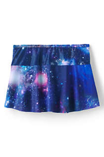 Little Girls Mix and Match Swim Mini Skirt, Back