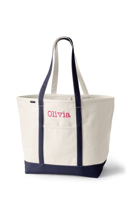 Extra Large Natural Open Top Long Handle Canvas Tote Bag