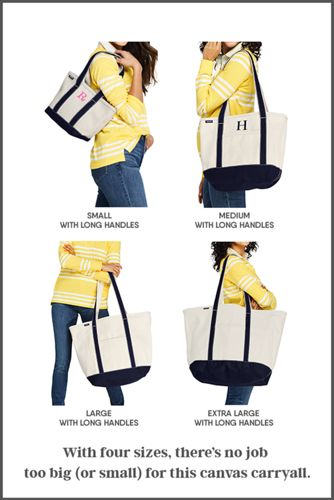 Extra Large Solid Color Zip Top Long Handle Canvas Tote Bag