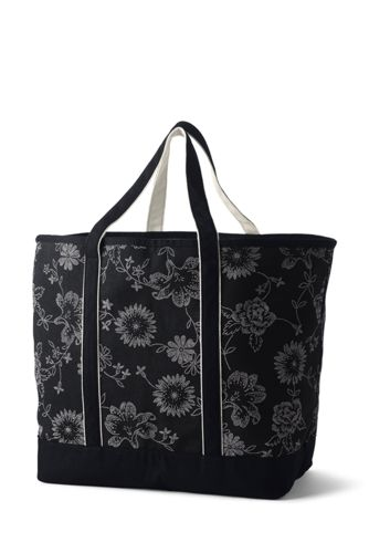 Extra Large Print Open Top Canvas Tote Bag