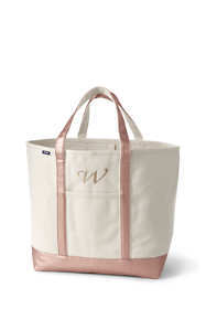 Extra Large Natural Rose Gold Open Top Canvas Tote Bag