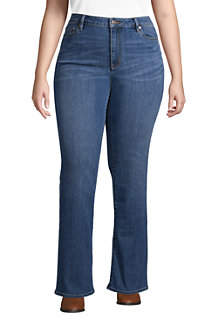 Women's Mid Rise Water Conserve Eco Friendly Jeans, Bootcut Leg