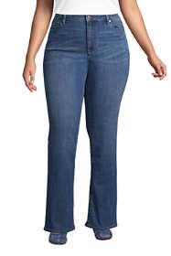 Women's Plus Size Mid Rise Bootcut Blue Jeans