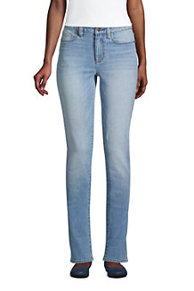 Straight Fit Öko Jeans Mid Waist