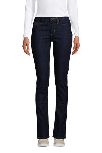 Women's Petite Mid Rise Water Conserve Eco Friendly Straight Leg Jeans