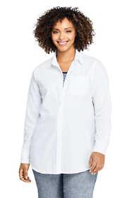 Women's Plus Size Boyfriend Fit Cotton Tunic Top