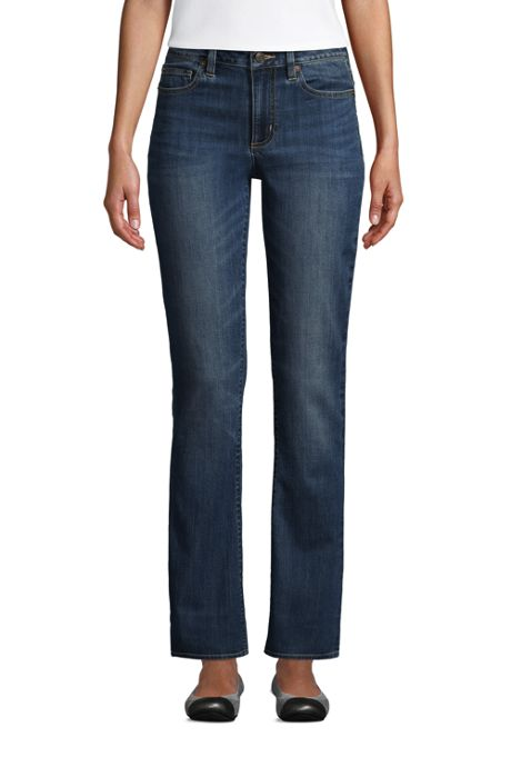 Women's Tall Mid Rise Bootcut Blue Jeans