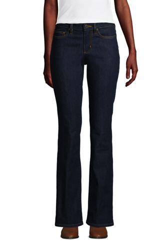 Jean Bootcut Water Conserve Taille Mi-Haute Indigo, Femme Grande Taille