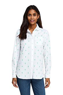 Women's Peter Pan Collar Embroidered Boyfriend Shirt