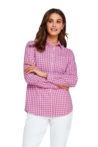 Chemise à Manches Enroulables, Femme Stature Standard