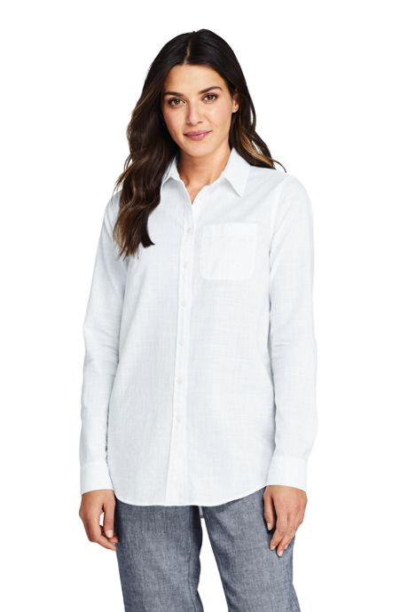 Women's Boyfriend Fit Cotton Tunic Top