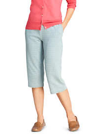 Women's Sport Knit High Rise Jacquard Capri Pants