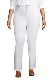 Women's Plus Size Mid Rise Straight Leg Blue Jeans