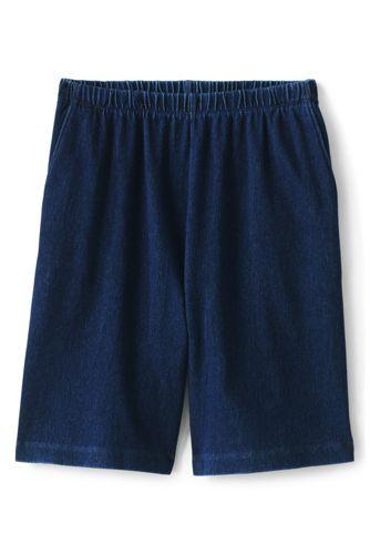 Women's Plus Size Sport Knit Denim Shorts