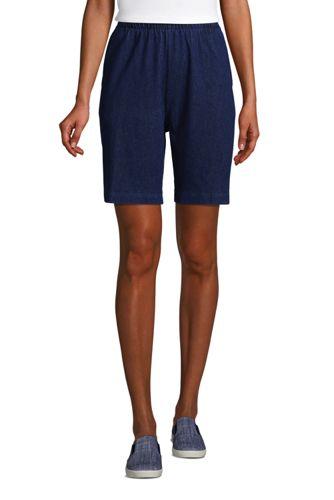 Women's High Rise Sport Knit Denim Jean Shorts