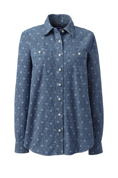 Women's Plus Size Chambray Shirt