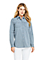 Women's Plus Long Sleeve Stretch Chambray Shirt