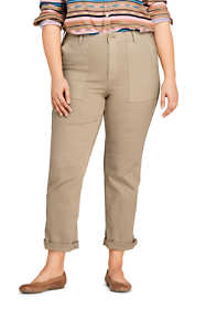Women's Plus Size Mid Rise Canvas Field Pants