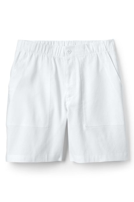 Women's Plus Size High Rise Linen Shorts