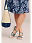 Sandale Confort en Cuir à Talon Compensé, Femme Pied Standard