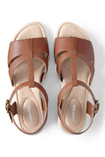 Women's Leather Comfort Wedge Sandals, Unknown