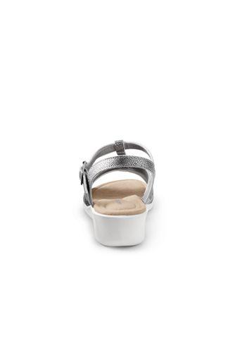 Women's Wide Leather Comfort Wedge Sandals