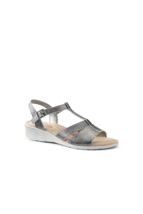 Women's Leather Comfort Wedge Sandals