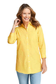 Women's No Iron 3/4 Sleeve Pattern Tunic Top