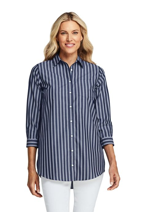 Women's Petite No Iron 3/4 Sleeve Tunic Top
