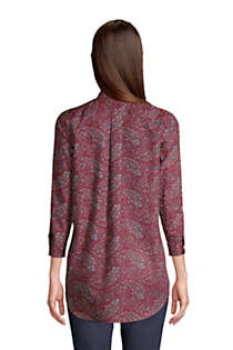 Women's Tall No Iron 3/4 Sleeve Tunic Top, Back