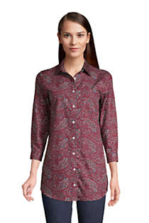 Women's Tall No Iron 3/4 Sleeve Tunic Top, Front