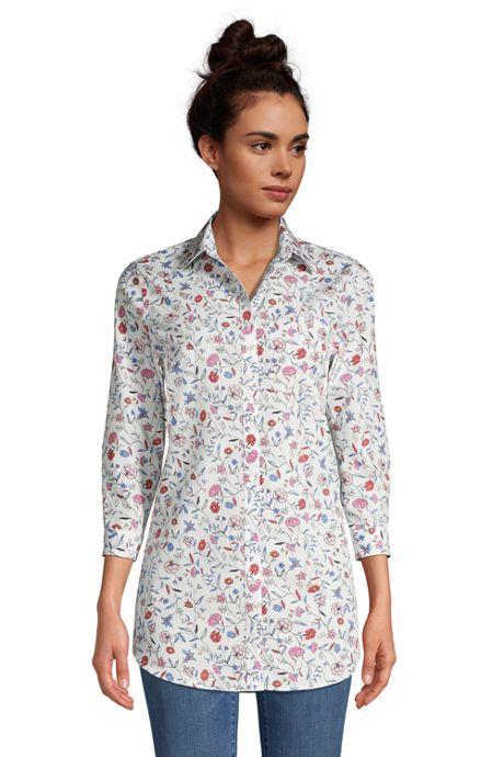 Women's Petite No Iron 3/4 Sleeve Tunic Top