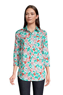 Women's Three-Quarter Sleeve Supima® Non-Iron Tunic