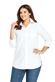 Women's Plus Size No Iron 3/4 Sleeve Tunic Top