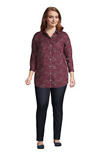 Women's Plus Size No Iron 3/4 Sleeve Tunic Top, alternative image