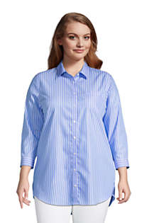 Women's Plus Size No Iron 3/4 Sleeve Tunic Top, Front