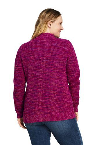 Women's Plus Size Drifter Shaker Cotton Quarter Zip Mock Neck Sweater