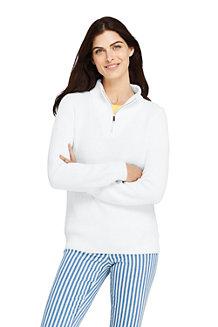 Melierter Pullover SHAKER mit halbem Reißverschluss