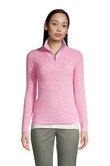 Women's Marl Shaker Stitch Half-zip Pullover