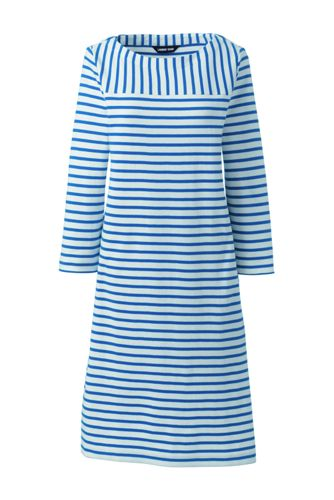 Women's Sport Knit Jersey Mariner Stripe Dress