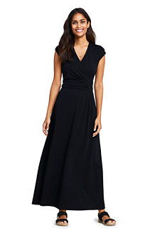 Women's Cotton-modal Jersey Twist Wrap Maxi Dress